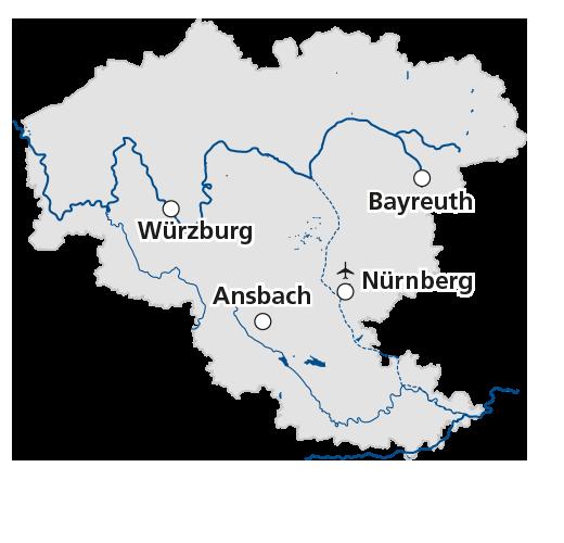 karte franken Frankenkarte karte franken